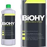 BIOHY Teppichshampoo 1 Liter Flasche Konzentrat - Shampoo für Teppich und Waschsauger/Teppichreiniger zur Entfernung selbst gegen hartnäckiger Flecken und Gerüche