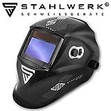 STAHLWERK ST-550L Vollautomatik Schweißhelm, großes Sichtfeld, inkl. 5 Ersatzscheiben & Aufbewahrungstasche, schwarz, 5 Jahre GARANTIE auf FILTER