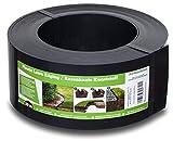 Flexible Rasenkante Kunststoff (20 m, schwarz) - Gut zu Verarbeiten, Sehr Stabil, Min. 30 Jahre Lebensdauer - Rasenbegrenzung und Beetbegrenzung unsichtbar - Beeteinfassung aus recyceltem Plastik