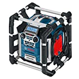 Bosch Professional Akku Baustellenradio GML 50 (USB, Aux-In, integrierter Akkulader, 14,4 - 18 Volt, 50 Watt)