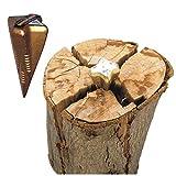 Spaltgranate Spaltkeil 1,6kg Holzspalter Holzspaltkeil Gold Spaltkreuz