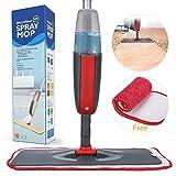 Fixget Bodenwischer mit, Bodenwischer mit Integriertem Zerstäuber Spray mop mit 2 waschbaren bodenwischer ersatzbezug und 1 Tank leicht zu reinigen den Boden, Fenster