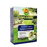 COMPO FLORANID Rasendünger mit Moosvernichter, 3 Monate Langzeitwirkung, Feingranulat, 6 kg, 200 m²