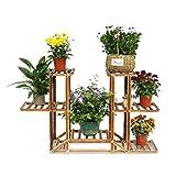 MalayasBlumenregal Blumentreppe Holz Blumen Rack Blumenständer