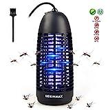 DEKINMAX Elektrischer Insektenvernichter, UV Insektenvernichter Mückenlampe Schutz vor Elektrischem SchlagTragbare Insektenlampe gegen Mücken, Fliegen, Moskitos für Innen Schlafzimmer und Gärten