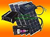 300 Watt Insel Solaranlage für Garten uvm. Komplett SET inklusive Montagematerial für Flachdach