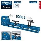 Scheppach Drechselbank DM1000T (400 W, Drechsel-Ø 350 mm, Spitzenweite 1000 mm, 4-fach verstellbarer Keilriemenantrieb, Werkzeugauflage, stabiler Führungsrahmen)