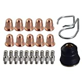 PR0110 Plasma Elektroden PD0116-08 Schneiddüse Φ0.8 & PC0116 für Trafimet S45 Brennerhals , 22pcs