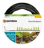 GARDENA Micro-Drip-System Tropfrohr oberirdisch 4.6 mm (3/16'): Tropfschlauch zum oberirdischen Verlegen, wassersparend, hochflexibel, 15 m (1362-20)