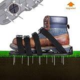 TAKELIFE Rasenlüfter Schuhe, 4 Riemen Rasenbelüfter-Nagelschuhe, 30cm Lange Sohlen, 5,5cm Lange Nägel, 4 einstellbare Riemen mit Metallschnalle GAS1A