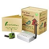 Green Feathers Drahtlose Vogel-Haus-Kamera mit Nachtsicht, Drahtloser Empfänger, 700TVL Video und Audio