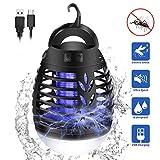 mimoday Insektenvernichter Elektrisch Fliegenfalle, 2-In-1 Mückenlampe Campinglampe LED Laterne, IP66 wasserdichte Tragbare Insektenlampe Zeltlampe, USB Wiederaufladbar für Innen und Außen