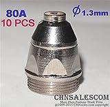 CHNsalescom 10 PCS P-80 High Frequency Plasma Cutter Pilot Arc Torch TIP 1.3 80A