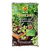 COMPO SANA Anzucht- und Kräutererde mit 6 Wochen Dünger für alle Jung- und Kräuterpflanzen, Kultursubstrat, 10 Liter