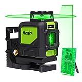 Huepar 901CG Laser Level Lautlos, Green Beam Cross Laser Selbstnivellierende 360-Grad-Abdeckung Horizontale Linie mit vertikaler Linie mit magnetischen Pivoting Base Pulse Modi erlauben Verwendung mit Detektoren