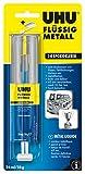 UHU 45960 Epoxidkleber, Flüssigmetall, 2 Komponenten, Doppelkammerspritze mit 28 g Inhalt