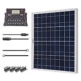 Renogy 50 W Solarmodul Poly 12 V, Solarpanel, Solarzelle, Solaranlage Solarbausatz für Aufladen von 12V Solarbatterie RV Garten Boot