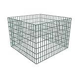 vidaXL Metall Garten Komposter Drahtkomposter Kompostbehälter 100x100x70 cm