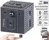 7links Mini WLAN Kamera: HD-Micro-IP-Überwachungskamera mit WLAN, Nachtsicht & App-Zugriff (HD Mini Cam App)