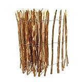 BooGardi Kastanienzaun in 28 Größen · Staketenzaun 120 x 500 cm (Lattenabstand 7-9 cm) aus Haselnuss · Rustikaler Gartenzaun als Rolle mit gespaltenen Staketen