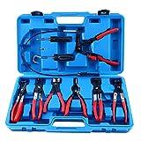 FreeTec Schlauchklemmenzange 11-tlg Schlauchschelle Spezial Zange Werkzeug