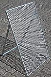 Novatool Durchwurfsieb 100 x 60 cm Sieb Metall Sandsieb Bausieb Bodensieb Erdsieb Kiessieb