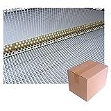 PVC-Eckwinkel 2,5 m, 80x120 Gewebe weiss/Krt a 250 lfm
