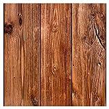 murando - Vlies Tapete Deko Panel Fototapete Wandtapete Wand Deko 10 m Tapetenrolle Mustertapete Wandtapete modern design Dekoration - Holz 1602-13