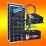 200 Watt Insel Solaranlage für Garten uvm. Komplett SET inklusive Montagematerial für Pfannendach