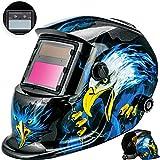 Masko Automatik Schweißhelm | großes Sichtfeld | für alle gängigen Schweißtechniken - Schweißmaske Schweißschirm Solar Schweißschild Schutzhelm , Helm mit Polsterung , | gegen Funken, Spritzer oder Strahlungen | ater