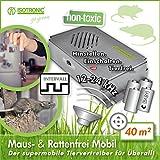 ISOTRONIC Mäuseabwehr Ultraschall Ratten- und Mäusevertreiber mobil Nagerabwehr Tiervertreiber Mäuseschreck batteriebetrieben für Garten Haus Keller und Dachboden Mäuse vertreiben ohne Chemie