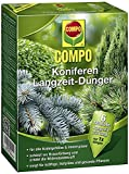COMPO Koniferen Langzeit-Dünger für alle Arten von Nadelgehölzen und Immergrünen, 6 Monate Langzeitwirkung, 4 kg, 70m²