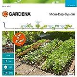 GARDENA Start Set Pflanzflächen: Micro-Drip-Gartenbewässerungssystem zur individuellen, flexiblen Bewässerung von Blumen- und Gemüsebeeten (13015-20)