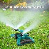 Sprenger Garten Sprinkler, Automatische 360 Grad Rotierende Rasen Wasser Sprinkler 3-Arm Sprenger für Bewässerungsanlagen