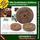 20 St. Jiffy von GREEN24 Original Quell-Tabletten Torf-Quelltöpfe Aussaaterde Anzuchterde 44mm Torftablette mit Anleitung