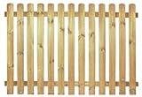 StaketenZaun 'Premium' 180x120/120cm - gerade – kdi / V2A Edelstahl Schrauben verschraubt - aus getrocknetem Holz glatt gehobelt – gerade Ausführung - kesseldruckimprägniert