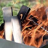 Anzündholz Brennholz 2-in-1 aus FSC Birke - Supertrockenes und Sauberes Feuerholz Kaminanzünder für Kamin Grill Ofen BBQ - Kein Anzünder Anzündwolle Anfeuerholz braucht