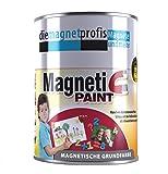 Magnetfarbe, extreme Haftkraft, allergikerfreundliche Wandfarbe für Innenräume,ohne Konservierungsmittel grau, 1 Liter (3 Neodym Magnete pro Dose)
