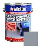 Garagen Bodenbeschichtung 2,5L Beton Boden Estrich Garage Farbe Beschichtung (Silbergrau)