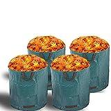 Alaskaprint 4X Gartenabfallsack Selbstaufstellend 272L 272 Liter Gartentasche Gartensack Abfallsack Laubsack Gartenabfälle Gartenkorb verschließbar mit Deckel 380g Sack
