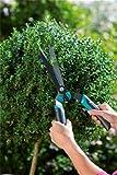 Gardena Comfort Buchsschere Aktion: Ergonomische Heckenschere für einen exakten Schnitt, Stoßdämpfung, integrierter Astabschneider, Gel Pads (319-20)
