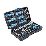 Karcher Steckschlüsselsatz 130-teilig 1/4' - hochwertiger Ratschenkasten & Bitsatz mit Werkzeug aus Chrom Vanadium