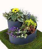 ARTECSIS Kräuterspirale, Pflanzspirale, 35 x ⌀55 cm, ideal für den eigenen Kräutergarten, UV stabil, äußerst robust, rundes Kräuterbeet, aus Kunststoff