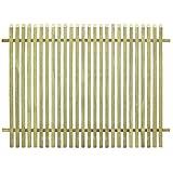 Festnight Gartenzaun Holzzaun Lattenzaun Terrassenzaun Zaun aus Impr?gniertes Kiefernholz 170 x 125 cm für Garten Hof oder Terrasse