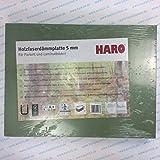 7qm Haro Holzfaserdämmplatte 5mm stark natürliche Dämmunterlage/Trittschalldämmung für Parkett und Laminat