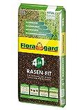 Floragard 4 in 1 Rasen-Fit 20 L für 10 m² • Rasenerde • Rasensubstrat zur Neuanlage • zur Ausbesserung und Pflege des Rasens • zum Topdressing nach dem Vertikutieren