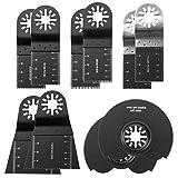 SANKUAI LT-Discs, 10pcs 35/65 / 88mm Gerade Skala Oszillierende Multi Tool Sägeblatt-Set for Makita Bosch Fein Multimaster Decker Power Tools Holz