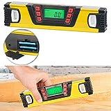 AGT Winkelmesser: Digitale Wasserwaage mit Winkel-Messfunktion und LCD-Display, 25 cm (Digitaler Winkelmesser)