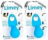 Limey Entkalk - Hilfe für Wasserhähne zur Entfernung von Kalkablagerungen, Blau, 2 Stück