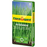 Floragard Rasenerde 40 L • hochwertige Spezialerde • zur Neuanlage, Pflege und Ausbesserung von Rasenflächen • mit dem Naturdünger Guano • mit Quarzsand